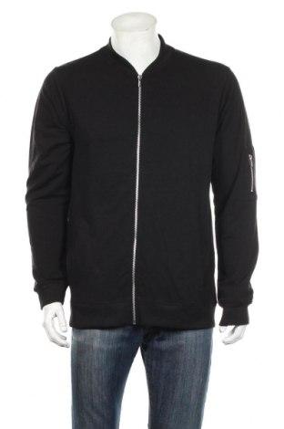 Bluză trening de bărbați Boohoo, Mărime XL, Culoare Negru, 48% bumbac, 48% poliester, 4% elastan, Preț 79,58 Lei