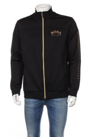 Мъжко спортно горнище Boss, Размер XL, Цвят Черен, 99% памук, 1% еластан, Цена 189,00лв.