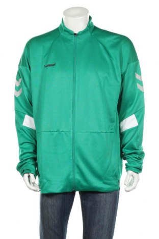 Bluză trening de bărbați Hummel, Mărime 3XL, Culoare Verde, Poliester, Preț 102,32 Lei