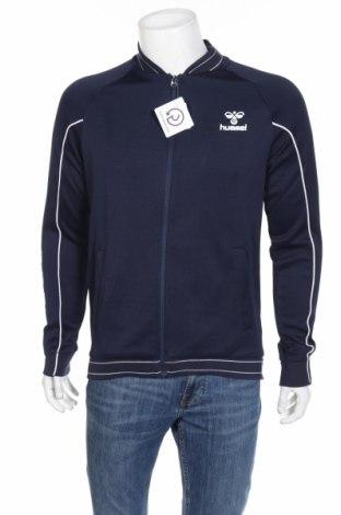 Bluză trening de bărbați Hummel, Mărime M, Culoare Albastru, 66% poliester, 34% bumbac, Preț 98,52 Lei