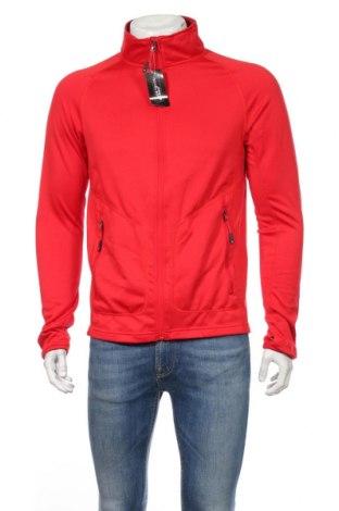 Bluză trening de bărbați James & Nicholson, Mărime XL, Culoare Roșu, 92% poliester, 8% elastan, Preț 98,52 Lei