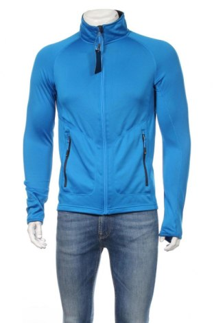 Мъжко спортно горнище James & Nicholson, Размер M, Цвят Син, 92% полиестер, 8% еластан, Цена 37,44лв.