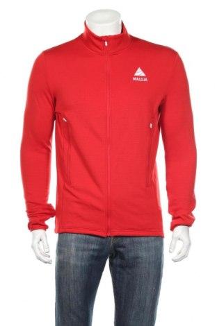 Bluză trening de bărbați Maloja, Mărime M, Culoare Roșu, Preț 152,63 Lei