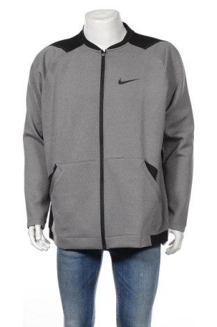 Bluză trening de bărbați Nike, Mărime XXL, Culoare Gri, 93% poliester, 7% elastan, Preț 286,84 Lei