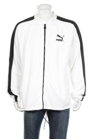 Мъжко спортно горнище PUMA, Размер XXL, Цвят Бял, 93% полиестер, 7% еластан, Цена 44,64лв.