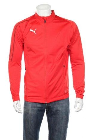 Bluză trening de bărbați PUMA, Mărime M, Culoare Roșu, Poliester, Preț 149,68 Lei