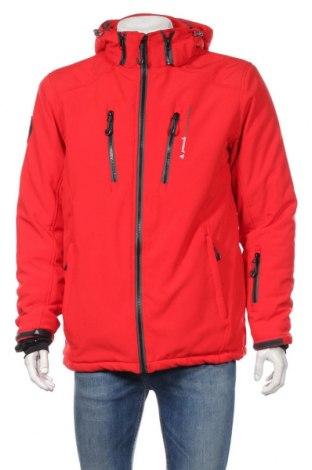 Pánska bunda  Peak Mountain, Veľkosť L, Farba Červená, 84% polyester, 16% elastan, Cena  45,88€