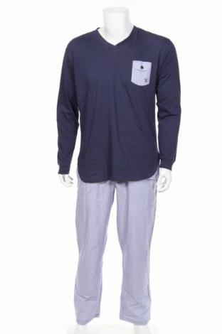 Pijama, Mărime L, Culoare Albastru, Bumbac, Preț 82,90 Lei