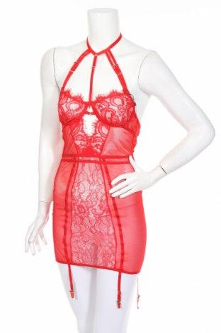 Lenjerie de corp de damă Boohoo, Mărime M, Culoare Roșu, 95% poliester, 5% elastan, Preț 106,11 Lei
