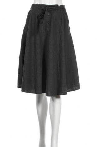 Fustă American Vintage, Mărime M, Culoare Gri, 60% bumbac, 30% poliester, 10% viscoză, Preț 163,16 Lei