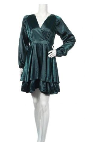 Рокля Ax Paris, Размер M, Цвят Зелен, 98% полиестер, 2% еластан, Цена 38,88лв.