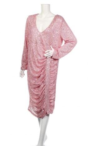 Rochie Boohoo, Mărime XL, Culoare Roz, Poliester, Preț 89,53 Lei