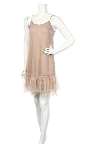 Šaty  Mystree, Veľkosť L, Farba Béžová, Polyester, viskóza, Cena  13,86€