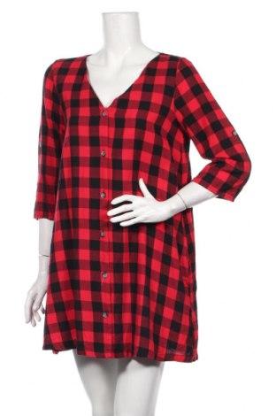 Рокля Zara Trafaluc, Размер L, Цвят Червен, 100% памук, Цена 33,60лв.