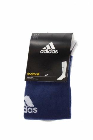 Ciorapi pentru sport Adidas, Mărime 7-8y/ 128-134 cm, Culoare Albastru, 99% poliamidă, 1% elastan, Preț 39,79 Lei