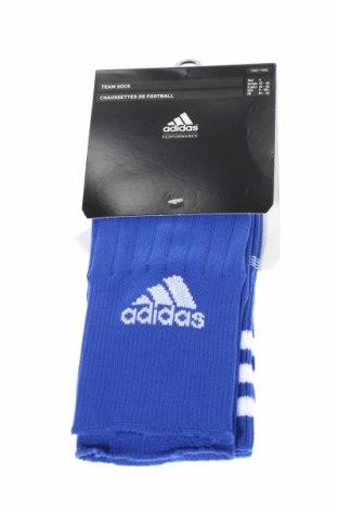 Sportowe skarpety Adidas, Rozmiar L, Kolor Niebieski, 99% poliamid, 1% elastyna, Cena 40,70zł