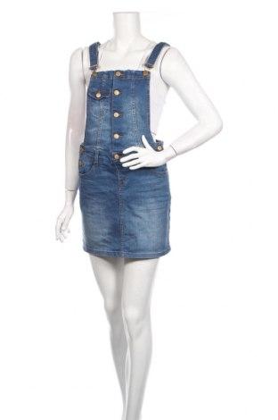 Dámske šaty s trákmi  Cache Cache, Veľkosť S, Farba Modrá, Bavlna, Cena  15,88€
