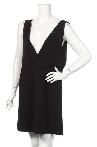 Dámske šaty s trákmi  H&M, Veľkosť XL, Farba Čierna, 62% polyester, 32% viskóza, 6% Eko koža , Cena  14,18€