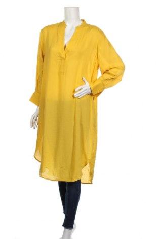 Tunika H&M, Rozmiar XS, Kolor Żółty, 50% tencel, 50% wiskoza, Cena 69,00zł