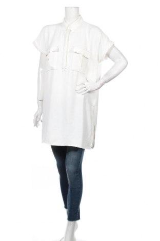 Tunică Zara, Mărime M, Culoare Alb, Poliester, Preț 61,47 Lei