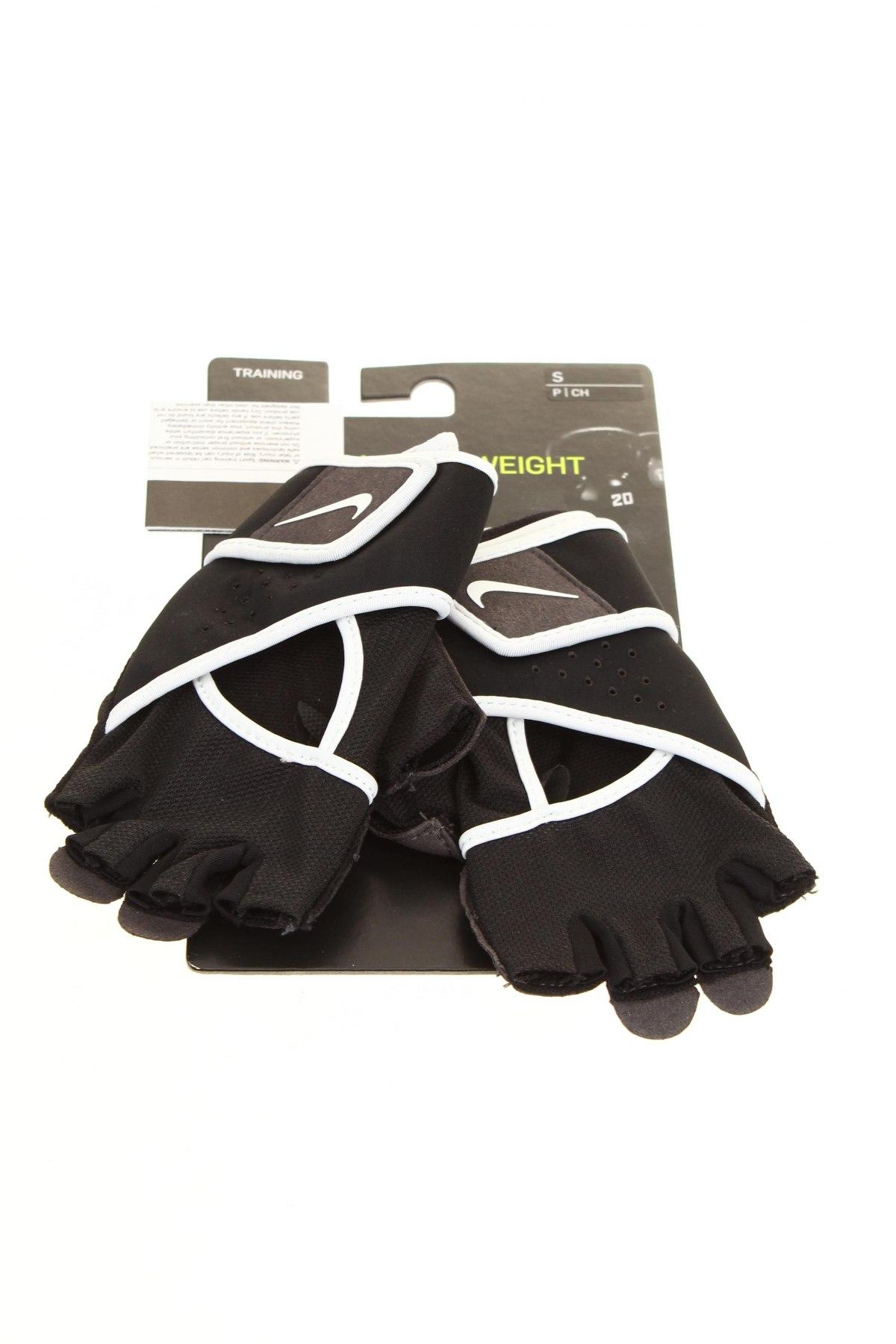 Ръкавици Nike, Цвят Черен, 47% полиестер, 26% полиамид, 22% полиуретан, 5% ацетат, Цена 35,40лв.