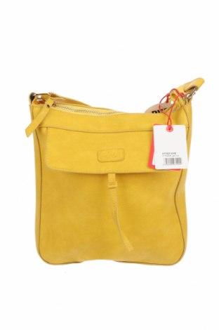 Γυναικεία τσάντα Heavy Project, Χρώμα Κίτρινο, Δερματίνη, Τιμή 36,37€