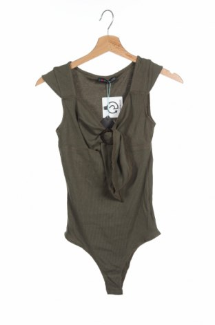 Γυναικεία μπλούζα-Κορμάκι Even&Odd, Μέγεθος XS, Χρώμα Πράσινο, 48% βαμβάκι, 48% πολυεστέρας, 4% ελαστάνη, Τιμή 1,59€