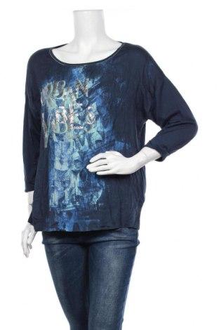 Дамска блуза Betty & Co, Размер L, Цвят Син, 50% памук, 50% модал, Цена 11,97лв.