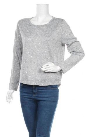 Дамска блуза Brilliant, Размер M, Цвят Сив, Полиестер, еластан, Цена 6,05лв.
