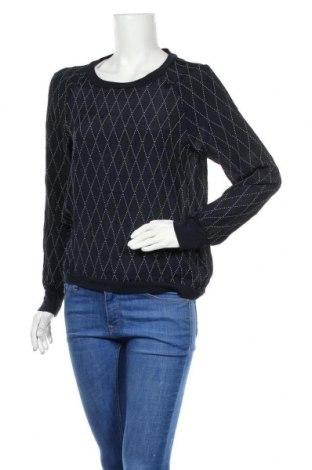 Дамска блуза Bruuns Bazaar, Размер M, Цвят Син, 60% вискоза, 40% коприна, Цена 17,01лв.