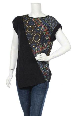 Γυναικεία μπλούζα Desigual, Μέγεθος L, Χρώμα Μαύρο, 59% πολυεστέρας, 38% βισκόζη, 3% ελαστάνη, Τιμή 21,34€