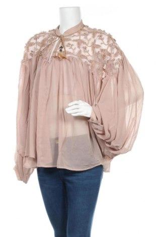 Γυναικεία μπλούζα Desigual, Μέγεθος L, Χρώμα  Μπέζ, 97% πολυεστέρας, 3% πολυαμίδη, Τιμή 36,80€