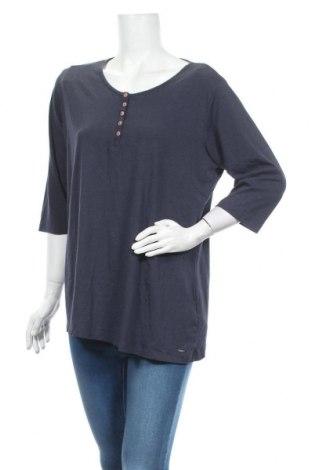 Дамска блуза Essentials by Tchibo, Размер XL, Цвят Син, 58% памук, 39% вискоза, 3% еластан, Цена 8,40лв.