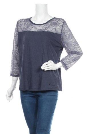 Дамска блуза Essentials by Tchibo, Размер XL, Цвят Син, 51% памук, 49% вискоза, Цена 18,95лв.