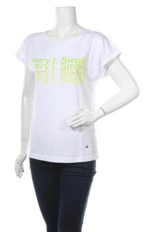 Дамска блуза Henry I. Siegel, Размер M, Цвят Бял, 50% памук, 50% модал, Цена 12,19лв.