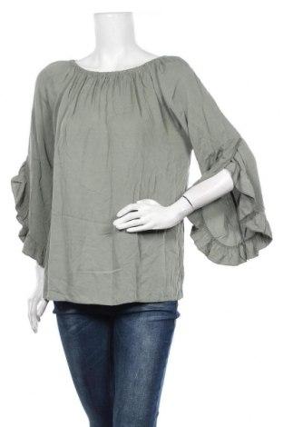 Дамска блуза Made With Love, Размер M, Цвят Зелен, Вискоза, Цена 11,39лв.