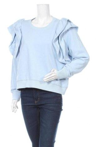 Bluză de femei Monki, Mărime L, Culoare Albastru, 60% bumbac, 40% poliester, Preț 57,75 Lei