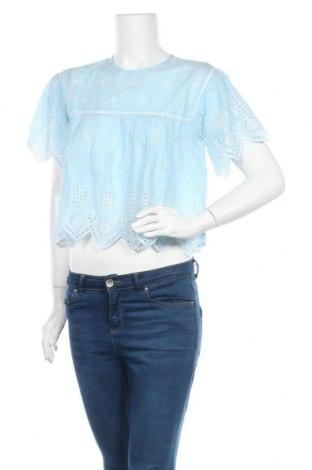 Дамска блуза ONLY, Размер S, Цвят Син, Цена 16,80лв.