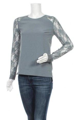 Дамска блуза Object, Размер XS, Цвят Сив, 98% полиестер, 2% еластан, Цена 5,59лв.