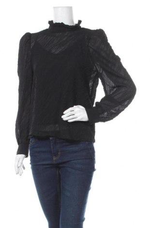 Дамска блуза Object, Размер S, Цвят Черен, Полиестер, Цена 29,76лв.