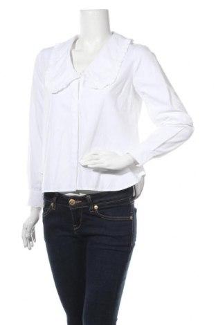 Дамска блуза Object, Размер M, Цвят Бял, 50% памук, 50% полиестер, Цена 33,12лв.