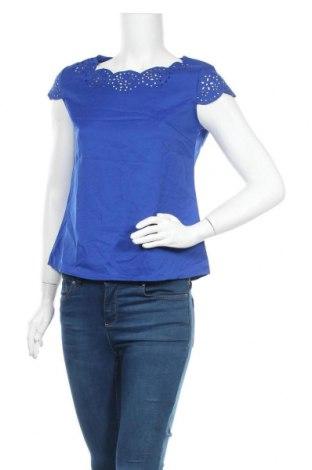 Дамска блуза SHEIN, Размер S, Цвят Син, 97% полиестер, 3% еластан, Цена 7,98лв.