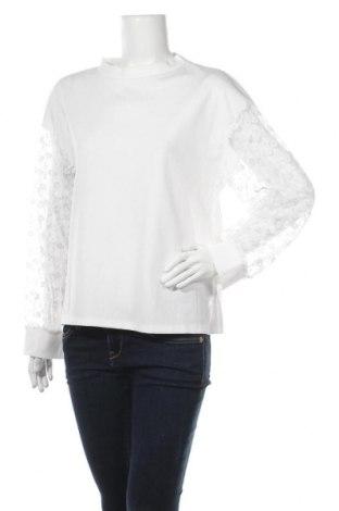 Дамска блуза SHEIN, Размер L, Цвят Бял, 97% полиестер, 3% еластан, Цена 13,23лв.