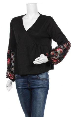 Дамска блуза SHEIN, Размер M, Цвят Черен, 97% полиестер, 3% еластан, Цена 14,18лв.