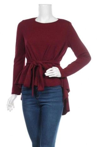 Дамска блуза SHEIN, Размер S, Цвят Червен, 95% полиестер, 5% еластан, Цена 16,54лв.