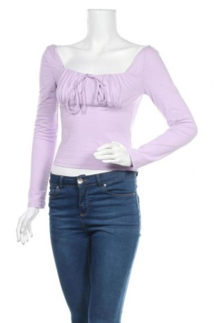 Дамска блуза SHEIN, Размер S, Цвят Лилав, 95% памук, 5% еластан, Цена 14,18лв.