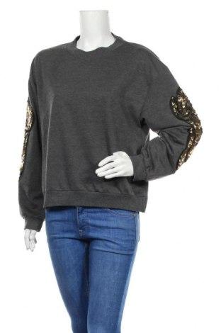 Дамска блуза SHEIN, Размер L, Цвят Сив, 95% полиестер, 5% еластан, Цена 16,96лв.