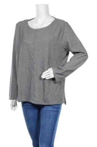 Γυναικεία μπλούζα Tom Tailor, Μέγεθος XXL, Χρώμα Γκρί, 52% πολυεστέρας, 48% βαμβάκι, Τιμή 11,43€