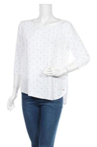 Γυναικεία μπλούζα Tom Tailor, Μέγεθος M, Χρώμα Λευκό, Βισκόζη, Τιμή 12,14€