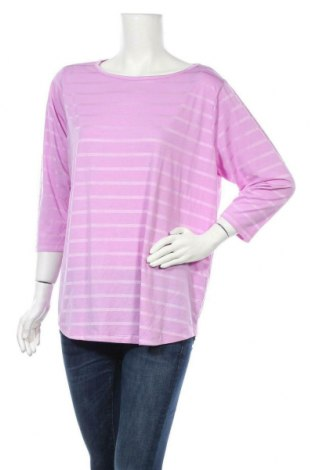 Дамска блуза Vrs Woman, Размер XL, Цвят Лилав, 70% полиестер, 25% вискоза, 5% еластан, Цена 15,17лв.